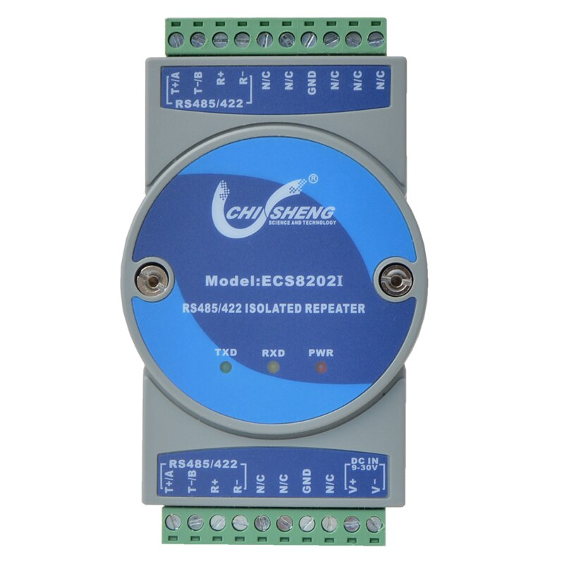 Ecs8202i 산업용 등급 rs485/422 리피터 신호 확장 증폭기 485 ~ 422 광 절연