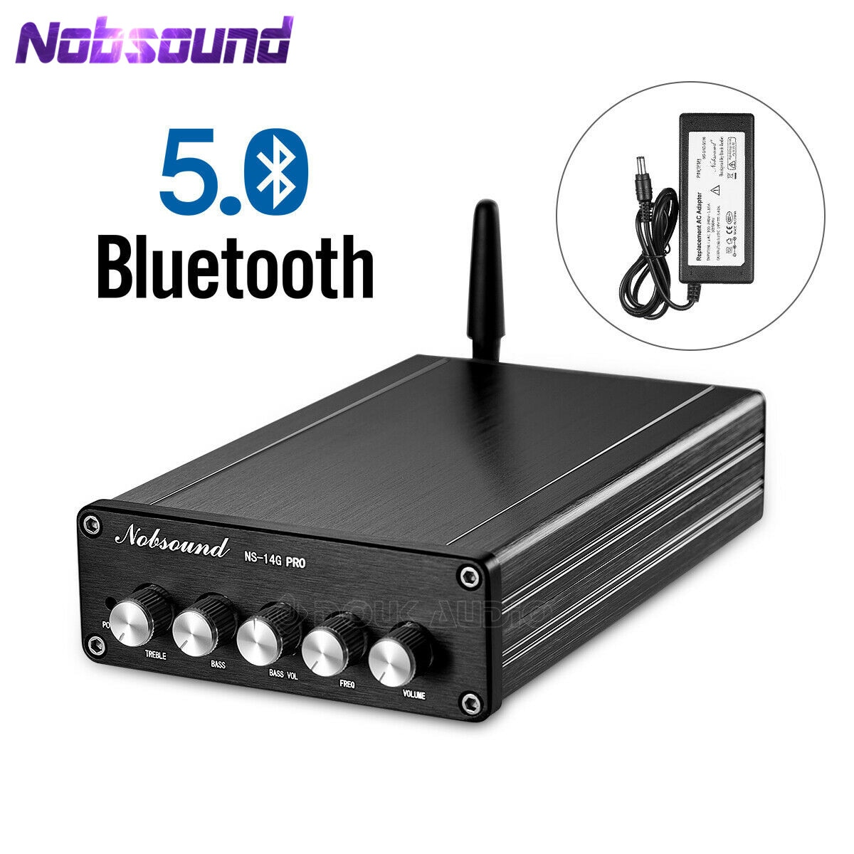[해외]Nobsound 블루투스 5.0 hifi tpa3116 디지털 파워 오디오 앰프 2.1 채널 스테레오 오디오 앰프 블랙/Nobsound 블루투스 5.0 hifi tpa3116 디지털 파워 오디오 앰프 2.1 채널 스테레오 오디오 앰프 블랙