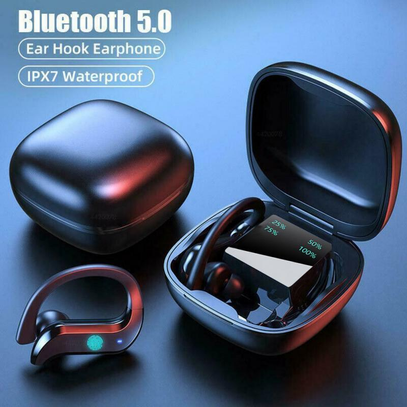New TWS Bluetooth 5.0 Earphones Touch Control Wireless Headphone 9D Stereo Sports Waterproof Earbuds Headsets With Microphone